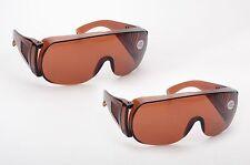 2pk Fit Over Wrap Around Driver Pilot Aviation Sun Glasses Protective Lens Dark