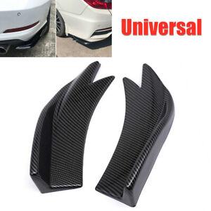 2PCS Car Bumper Spoiler Rear Lip Side Skirt Canard Diffuser Wrap Angle Shovel