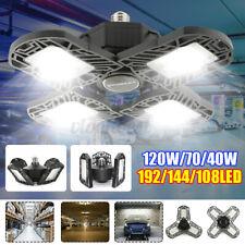 120W 12000lm Deformable LED Garage Light Workshop Ceiling Fixture Bulb Lamp E27
