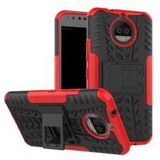 Hybrid Case 2teilig Outdoor Rot Tasche Hülle für Motorola Moto G5S Etui Cover