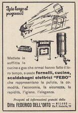Z3917 Scaldabagni elettrici FEBO - Pubblicità d'epoca - 1932 vintage advertising