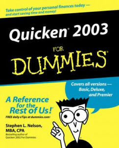 Quicken 2003 for Dummies (For dummies) by Nelson, Stephen L.