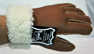 4 COLORS REAL GENUINE SHEEPSKIN SHEARLING LEATHER GLOVES UNISEX Fur Winter S-2XL