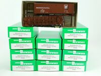 HO Scale Bowser 55322 Set of 12 PRR Pennsylvania 40' X-31 Single Door Box Cars