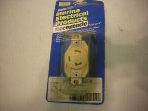 Hubbell HBL305CRR MARINE 30a Locking Receptacle NIP USA