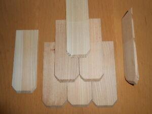 100 Lärchenschindeln gefast 7cm Holzschindeln Dachschindeln Holzschindel 7x20 cm