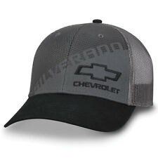 5b4ea55e42638 Chevy Silverado Gray Black Twill   Mesh Flex Hat ...