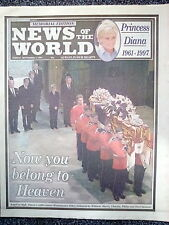 Princess Diana. News Of The World Newspaper Funeral Memorial Edition 07/09/97
