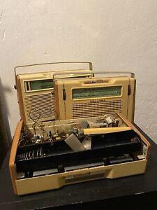 3 Alte Philips All Transistor Radio's Kofferradio Ersatzteilträger defekt 1960er