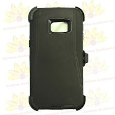For Samsung Galaxy S6 edge Plus+ Defender Case (Belt Clip Fits Otterbox)Black