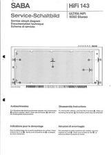 Saba Original Service Manual für ULTRA hifi 9060 stereo