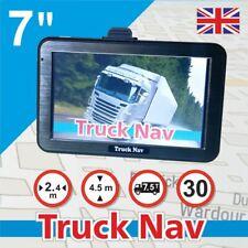 """7"""" Camper GPS SAT NAV Car Navigation Navigator FM BT Speedcam UK EU Map"""