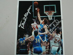 DAVID THOMPSON & TOMMY BURLESON Signed 8x10 Photo Autograph NC State Basketball
