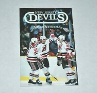 1985-86 NHL New Jersey Devils Pocket Schedule Hockey