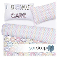 Duvet Cover Bedding Set Modern Kids Contemporary- I DoNut Care - Size King Bed