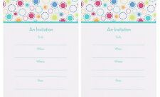 20 CHIC PARTY INVITATIONS Fill-In Adult Birthday Contemporary Colorful Cards NEW