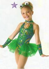 Feelin Froggy Dance Costume Skirted Leotard Mitts Headpiece Halloween Adult Med