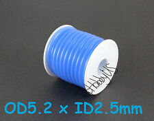 1Roll (16 ft) Blue Silicone RC Nitro Fuel Line Tubing D5.2xø2.5 (US SELLER/SHIP)