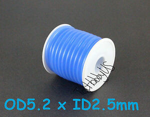 1Roll (16 ft) Blue Silicone RC Nitro Fuel Line Tubing D5.2xø2.5 (US SELLER SHIP)