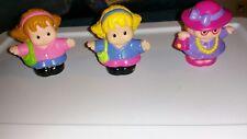 Lot of 3 Fisher Price Little People Moms Blonde Brunette Red  Moms Girl Purse