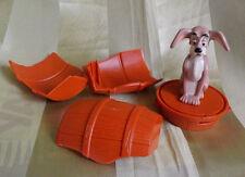Tramp in der Tonne Hund - aus Susi und Strolch Disney 1997 Action Figur Vintage