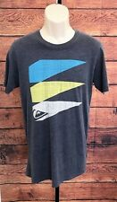 QUICKSILVER Men's Graphic T-Shirt Retro Image Grey size Small