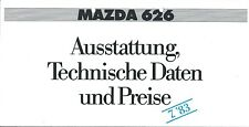 Auto Brochure - Mazda - 626 - Specifications - 1983 - GERMAN prospekt (A1228)