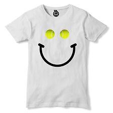 Tennis Ball Smiley T Shirt Funny Summer Holiday Tshirt Novelty Geek Wimbledon 83