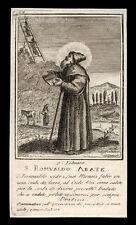 santino incisione 1700 S.ROMUALDO AB. DI CAMALDOLI
