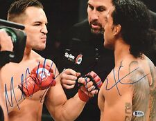 Michael Chandler Benson Henderson Signed 11x14 Photo BAS COA Bellator Picture 3