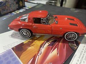 Franklin Mint 1963 Chevrolet Corvette Stingray In Red,In Original Foam Packaging