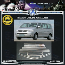 FITS TO VOLKSWAGEN T5 CHROME WINDOW TRIM COVERS 5y GUARANTEE 2003-2015 OFFER NEW