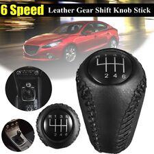 Leather Gear Shift Knob For MAZDA 3 BK BL 5 CR CW 6 II GH CX-7 ER MX-5 NC III