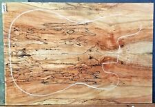 Black line Spalted Maple Wood 11245 Solid Body Guitar Top set 23.5x 16 x .375