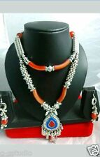INDIAN ethinic BELLY DANCE KUCHI TRIBAL necklace with earrings--JEWELRY