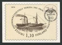 FINNLAND MK 1981 NORDIA SCHIFF SHIP MAXIMUMKARTE CARTE MAXIMUM CARD MC CM d3371