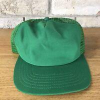 Vintage New Era Green Dupont Visor Pro Design Snapback Trucker Mesh Hat Blank
