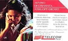 G AA 59 C&C 2643 SCHEDA TELEFONICA USATA ALTO ADIGE AVVISO DI CHIAMATA