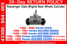 Genuine OEM Honda Passenger Side Rear Brake Wheel Cylinder Right Civic Accord