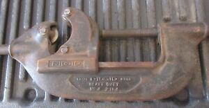 """Vintage Ridgid Model No.4 Heavy Duty Pipe Cutter 2"""" To 4"""" Pipe W Leverage Handle"""
