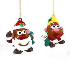 Cute Mr and Mrs Potato Head Kurt Adler Christmas Ornament Set X 2 NEW Toy Story