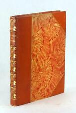 Fine Orange Leather Binding The Romance Of Tristam Evelyn Paul Illuminated
