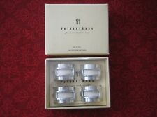 POTTERY BARN 4 PLACECARD NAME NAPKIN RINGS NEW IN BOX