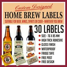 30 PERSONALISED BEER LABELS, UNIQUE GIFT OR SPECIAL OCCASIONS, CUSTOM DESIGNED