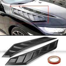 For Cherokee Pair Flexible JDM Decor Long Ver Hood Bonnet Vent Cover Flat Black