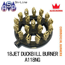 HI SPEED 18 JET CAST IRON DUCK BILL BURNER NATURAL GAS FOR COMMERCIAL BURNERS
