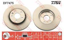 1x TRW Disco de freno delantero Ventilado 276mm Para CHEVROLET AVEO DF7475