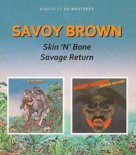 Skin 'n' Bone/Savage Return by Savoy Brown (CD, Aug-2010, Beat Goes On)