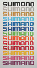 4 x 20cm Long Shimano Stickers Vinyl Decal Fishing Box Seat Pole Rod Seat Tackle