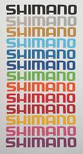 4 x 20 cm adesivi lunga Shimano Vinile Decalcomania Pesca Scatola Sedile Pole Rod SEAT Tackle